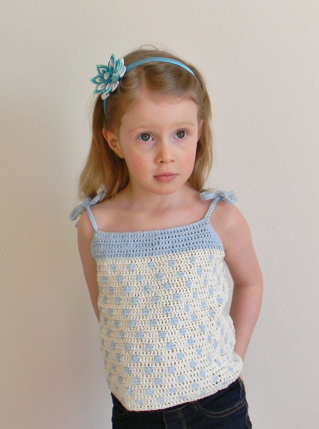 Free Knitting Pattern For Toddlers Tank Top : Crochet Pattern Polka Dot Top Crochet Top Pattern Crochet