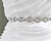 Bridal crystal belt , rhinestone sash, bridal sash, bridal belt,