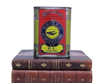 Vintage Olive Oil Tins