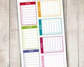 Rainbow To Do List, Set of 14 - Erin Condren Life Planner, Vertical