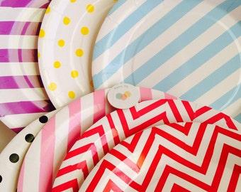 Choose colors Paper plates/ Party plates / party supplies