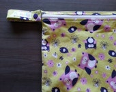 SALE Large Zippered Wetbag Holds 10-12 Cloth Diapers