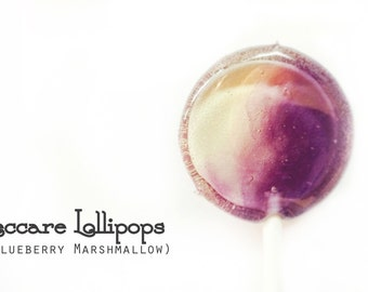 6 Blueberry Marshmallow  Lollipops // Swirl Lollipops // Made to Order // Fall Wedding Favors // Spring Wedding