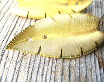 Leaf Pin Blanks - Pin Blanks - Jewelry Findings - Vintage Pin Blanks