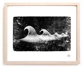 """Surfing Art Print """"Carved"""""""