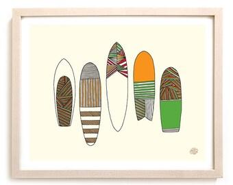 "Surfing Art ""New Friends Surfboards"""