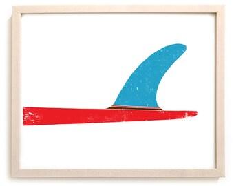 "Surfing Art Print ""Single"""