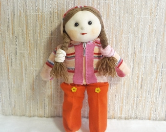 Knitted Doll Dressed in Suit Jacket and Trousers - OOAK