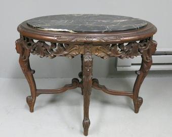 Vintage Italian Carved Side Table
