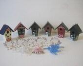Christmas Ornament Decoration Primitive Country Rustic Snowflake Santa Claus Snowman Wood Lot of 54 Vintage E833Bs