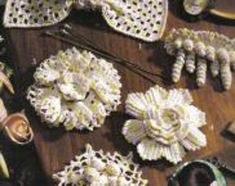 Lace Hairbows Crochet Pattern Booklet, 8 Designs by Molly Dwyer of Leisure Arts