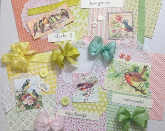 Any Occasion bird and flowers card crafting kit