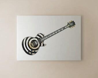 Zakk Wylde's Gibson Les Paul Custom Bullseye CANVAS PRINT