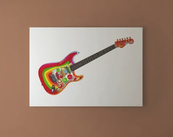 George Harrison's Fender Stratocaster Rocky CANVAS PRINT
