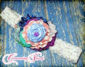 Blue, Turquoise, Raspberry Headband, Gloria Bubblegum Dress, M2M Matilda Jane, Wonderful Parade, Aqua, Purple, Coral Pink Hair Accessory
