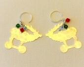 Sterling Earrings-Holiday Reindeer