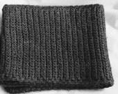 Men's crochet scarf, Solid grey scarf. Unisex scarf - The Iwan - Mens winter scarf, Solid scarf
