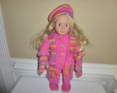 """American Girl Doll/18"""" Doll -  Coat, Hat, Scarf, Boots, Mittens, Bag"""