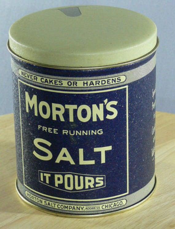 Morton's Salt Collectible Tin -  Morton Salt Company Chicago - Bristol 1985 -  MG-344