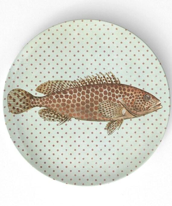 Sea Life Fish II melamine plate