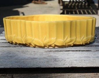 Vintage McCoy Bright Yellow Planter