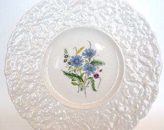 DAMAGED - Royal Cauldon Bristol Ironstone Plate, Cornflowers, England