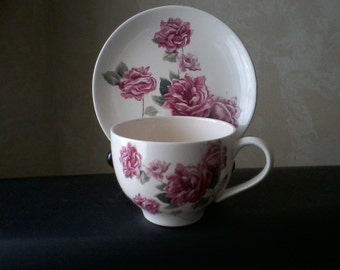 Pink Rose Cup and Saucer