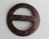 Coconut Shell buckle - 6cm - natural buckle