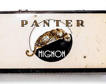 Old Dutch Panter Mignon Cigar Cigarette Tobacco Tin Made in Holland