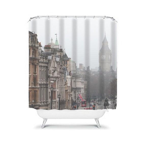London shower curtain bathroom decor photography by rubyandb - Bathroom accessories london ...