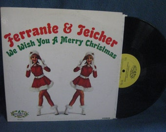 """Vintage, Ferrante & Teicher - """"We Wish You A Merry Christmas"""", Holiday Vinyl LP, Record Album, Traditional, Cheesecake, Silver Bells"""