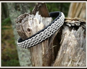 Lapland Sami Bracelet, Reindeer leather, Custom made