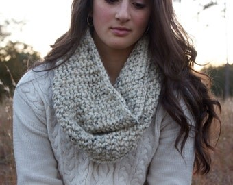 Chunky Speckled Oatmeal Cowl for Women // The Alder