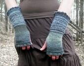Fingerless Gloves, Knit Fingerless Gloves, Wrist Warmers, Knit Wrist Warmers,  Knitted Gloves, Hand Warmers, Gauntlets, Fairy Faerie Fae