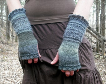 Fingerless Gloves, Knit Fingerless Gloves, Wrist Warmers, Knit Wrist Warmers,  Knitted Gloves, Hand Warmers, Gauntlets, Fairy Faerie Fae