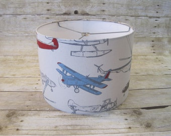Drum Lamp Shade Lampshade Vintage Airplanes