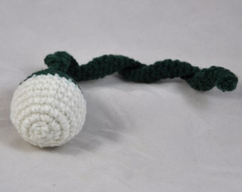 New York Jets - Crochet Cat Toy - Jingle Ball Snake - Homemade Cat Toy - Unique Cat Toys - Cat Ball - Cat Toys - Crochet Balls - L2