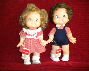 Vintage Campbells Soup Collectable Dolls