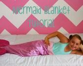 Mermaid Tail Blanket Tutorial Pattern PDF Sewing