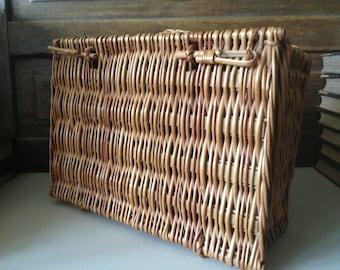 Wicker Small Picnic Basket Storage Basket