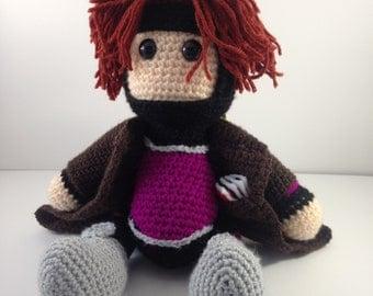 Gambit Amigurmi Crochet Doll