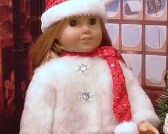 White Fur Jacket for American Girl Dolls