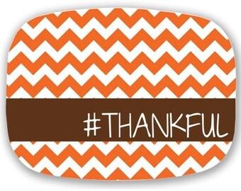 Thanksgiving Melamine Platter, Autumn Monogrammed Platter, 10x14 Platter, Hostess Gift, Wedding Gift, Thanksgiving, Housewarming Gift