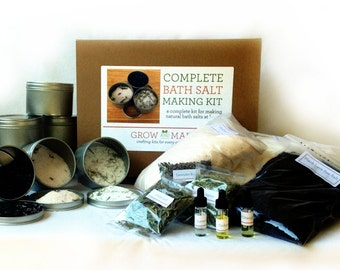 Complete DIY Make Bath Salt Kit (Makes 12)