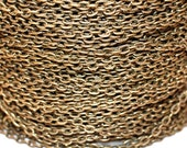 15ft Antiqued brass Chain Finished Chain- Cable Chain-unsoldered-5.8x3.4mm
