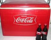 Vintage 1960 Coca-Cola Cooler, RARE Fish Tail  Detail, Vintage Advertising, Antique Alchemy