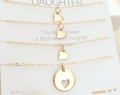 Mother Daughter Necklace - Mother Daughter Jewelry - Mother Daughter Gift - Delicate Necklace - Delicate Jewelry - Three Daughters // GOLD