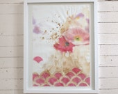 Scallop Poppies-- Original art in frame
