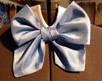 Powder blue steampunk bowtie