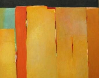 "Southwest oil painting original 20""x24"" Southwestern abstract landscape Jan Smiley"